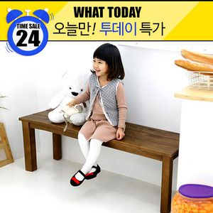 [What today][Natural] 1200 원목 나무 벤치의자