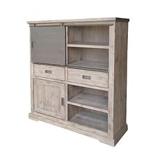 [100일예약][vintage wood] WOODEN CABINET WITH DOOR CEMENT FINISH (SBI VD B 717)