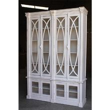 [100일예약][vintage wood] WOODEN CABINET 2 PART WITH GLASS DOOR (SBI VD B 701)