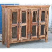 [100일예약][vintage wood] WOODEN GLASS SIDE BOARD (SBI VD B 619)