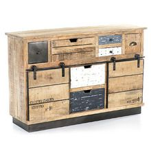 [100일예약] MANGO WOOD SIDEBOARD WITH SLIDING DOOR (SBI VD B 359)