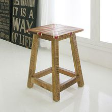 [*미세스크레치A등급*][Industrial]Vintage WOOD W/D STOOL(serial ART 7115)