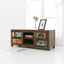 [▲GOODBYE][Industrial] Point Patch Vintage 1200 원목 TV 거실장 (sbi VD B 118)