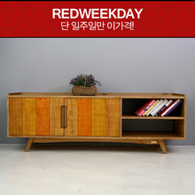 [Redweekday][▲GOODBYE][Scandinavia] 컬러패널 1600 원목 TV 거실장