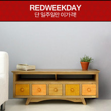 [Redweekday][▲GOODBYE][Scandinavia] 컬러5D 1100 원목 TV 거실장