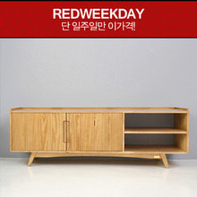 [Redweekday][▲GOODBYE][Scandinavia] 패널 1600 원목 TV 거실장