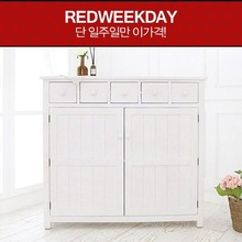 [Redweekday][White] 원목 w009 수납장